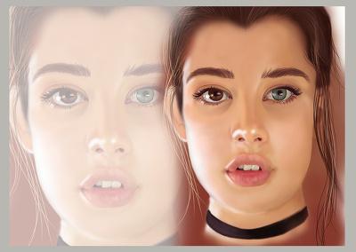 Draw cartoon portrait headshot avatar from your photo
