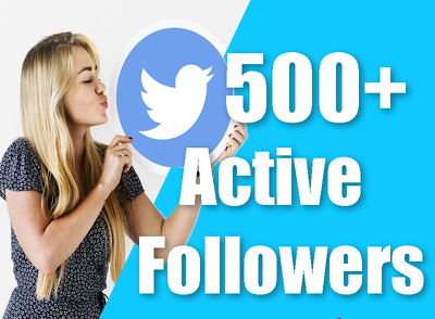 promote and provide 500 active Twitter Followers to your account