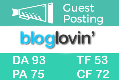 Guest Post on Bloglovin.com DA93 With Dofollow Backlink