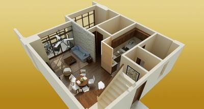 Convert  2D floor planning into attractive 3D model