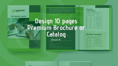 design 10 pages Premium Brochure or Catalog
