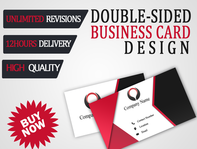Design double sided business card+unlimited unlimited revisions