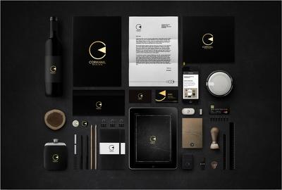 Luxurious design+LOGO+business cards+letterhead+full stationery
