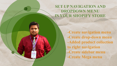 Add navigation and dropdown menu in your shopify store