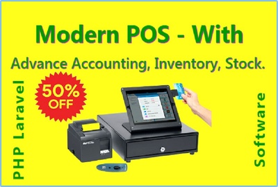 Install modern pos with advance accounting inventory stock