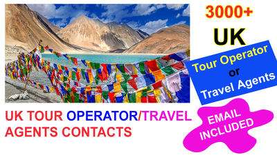 Give you 3000 plus UK Travel agencies CONTACT  list
