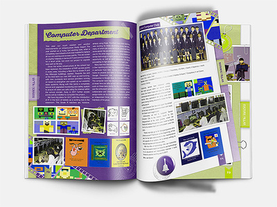 Design magazine page layout, page in design and newsletter layou