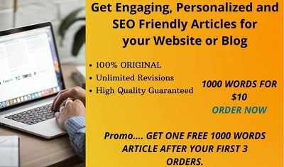 Write Engaging, and SEO Friendly Articles for your Blog