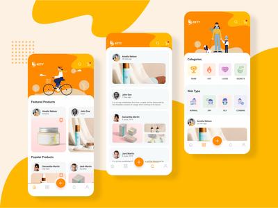 design stunning Ui screens for mobile app
