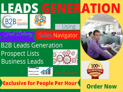 Do b2b lead generation and web research