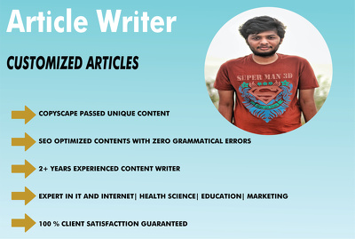 Write Tech based article for you