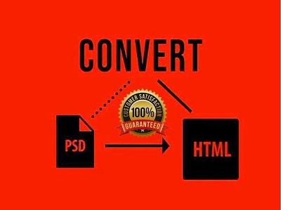 Convert any kind of PSD PDF AI JPG PNG to HTML CSS BOOTST
