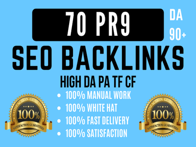 Manually Create 70 PR9 DA90 Profile Backlinks Seo Optimization