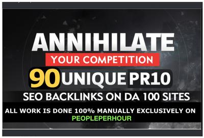 Build 90 SEO backlinks on TF 100 da100 sites