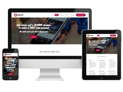 Create professional brand new responsive wordpress website