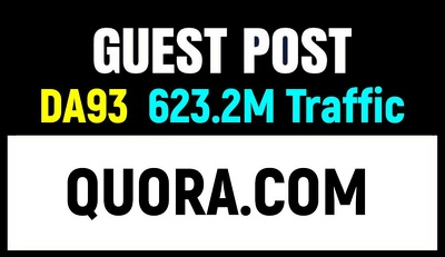 Publish a Guest Post on Authority Domain Quora.com DA93
