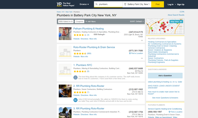 Scrape 200 businesses listed on yellowpages.com