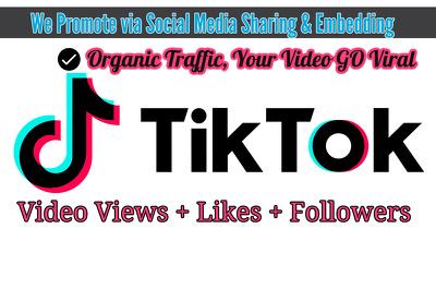 Boost TikTok Videos Organically [Go Viral] Get REAL Traffic