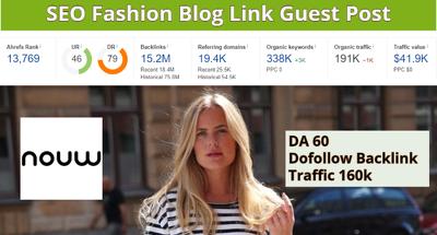 Do fashion guest post on nouw da60 Traffic 300k