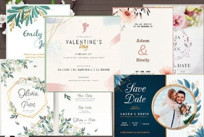 Create awesome wedding,birthday and any invitation design