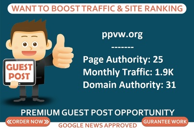 Add a guest post on business site ppvw.org