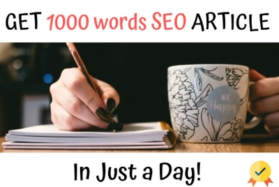 Write SEO article with indepth keyword research