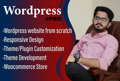 Build a complete clean, modern and responsive wordpress website