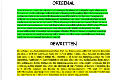Rewrite or rephrase 1000 words blog articles to avoid plagiarism