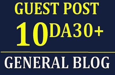 Write & guest post on 10 Different General Websites with DA30+