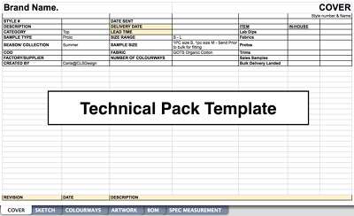 Basic Industry Standard Technical-Pack Template