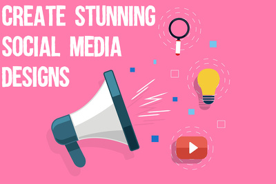 Make stunning social media designs for your page (3 designs)