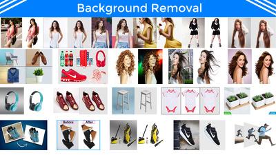 Remove background of any 50 images, 24 hour delivery