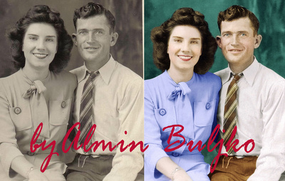professionally  restore and colorize a black & white photo