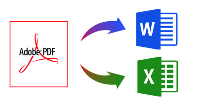 Convert PDF files to Excel or Word files
