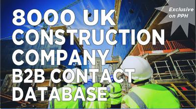send you 8000 UK b2b construction company contact list