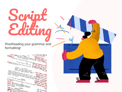 Proofread and edit your screenplay up to 120 pages