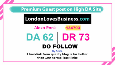 guest post on LondonLovesBusiness - LondonLovesBusiness.com DR72