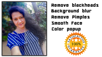Retouch you valuable photos( add, remove background, Clean face
