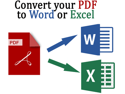 Covert PDF file to word or excel files (up to 20 pages)