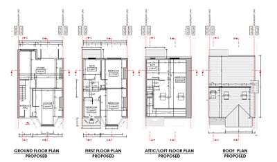 Create 2D floor plans or construction drawings