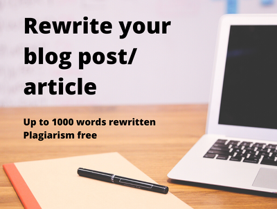 Rewrite any article up to 1000 words