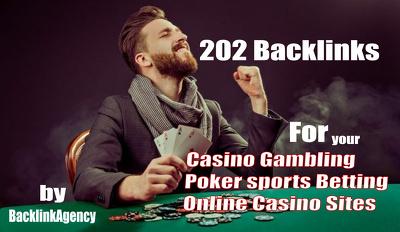 202 Backlinks is enough for Casino Gambling Poker sports Betting