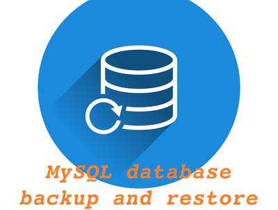 Backup and restore MySQL or MariaDB database