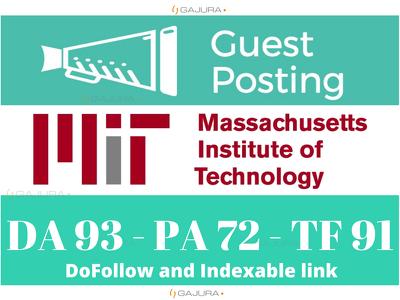 Get DOFOLLOW Backlink MIT University - MIT.edu DA 93