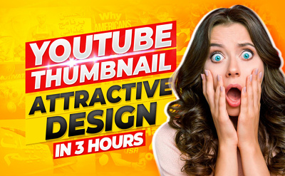 Design amazing Youtube thumbnail in 3 hours