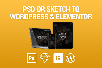 Convert your Sketch or PSD file to Wordpress & Elementor