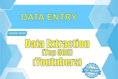 Extract top 500 youtubers data in excel