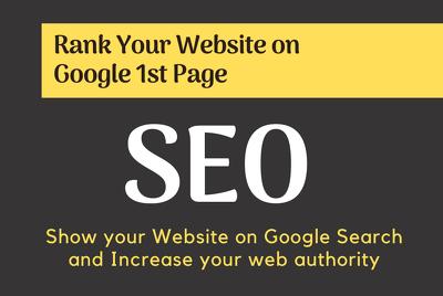 Do off page seo and make high quality backlinks
