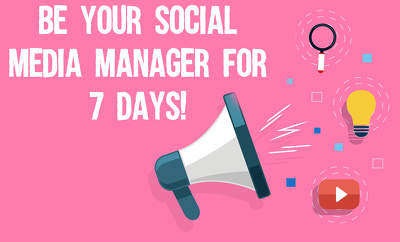 Be your social media manager for 7 days