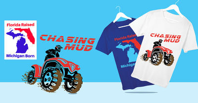 Make a modern and clean t-shirt design